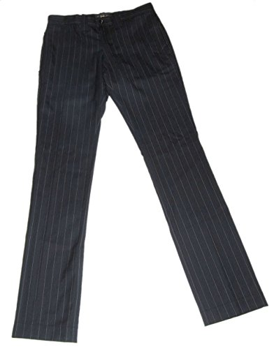 Polo Ralph Lauren RRL Men Wool Pinstripe Black Pants 30 (Wool Suit Pant Pinstripe)