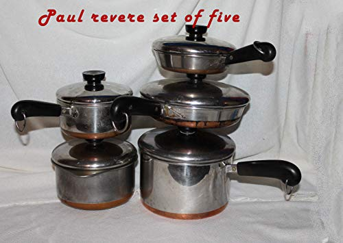 Set of Four Vintage Revere Ware Copper Clad ()