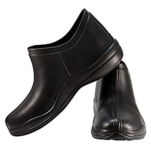 Clogs Store Unisex Rubber Rain and Garden Shoes. Best for Lawn Work and Nursing. Hypoallergenic and Lightweight. Quality Material Without Chemical Smell (10 US Women/7 US Men, Black)