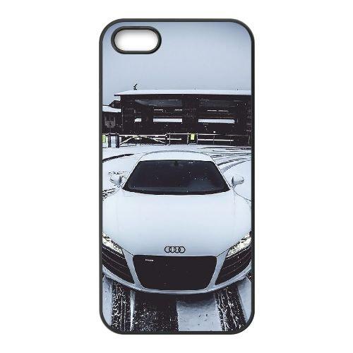 Audi coque iPhone 5 5S Housse téléphone Noir de couverture de cas coque EBDOBCKCO13657