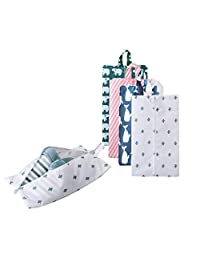 Portable Shoe Bags for Travel Multifunctional Oxford Shoe Storage and Organization with Zipper Closure (5 Pack Pattern 2)