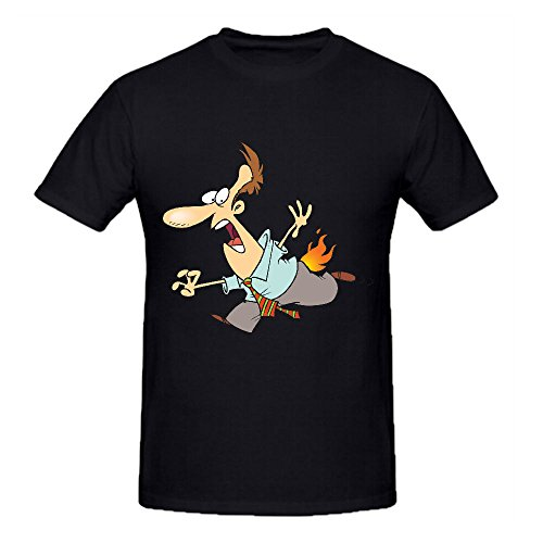 cartoon-house-on-fire-graphic-t-shirts-for-men-crew-neck-casual