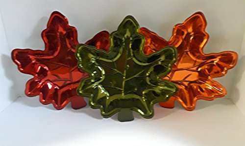 FALL AUTUMN HALLOWEEN DECORATIVE MAPLE LEAF CANDY DISHES