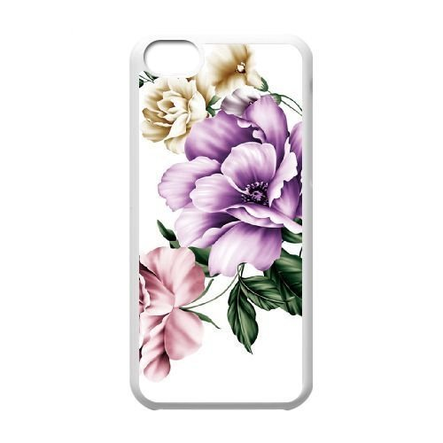 FDXGW593 iPhone 5c Cell Phone Case-white_Retro Flower (6)