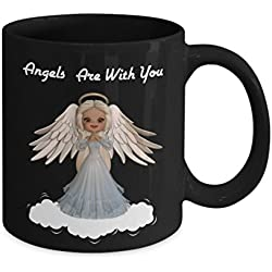 Angels Are With You Coffee Tea Mug-Faith I Believe in Angels-Guardian Angel Protection Numbers 444