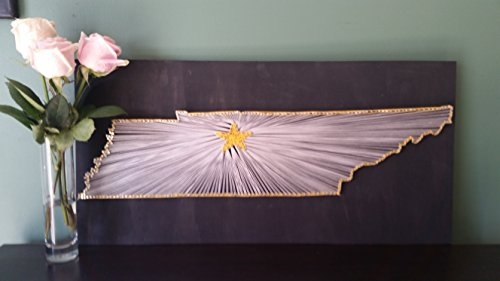Tennessee String (State of Tennessee String Art Sign, Made to Order)