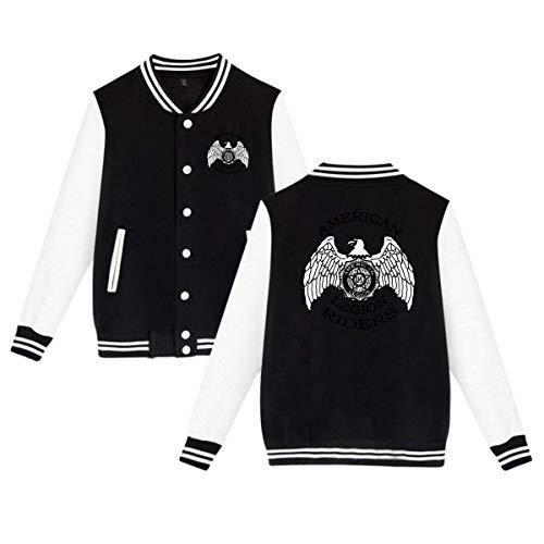 American Legion Riders Unisex Baseball Uniform Jacket Sweatshirt Sport Coat ()