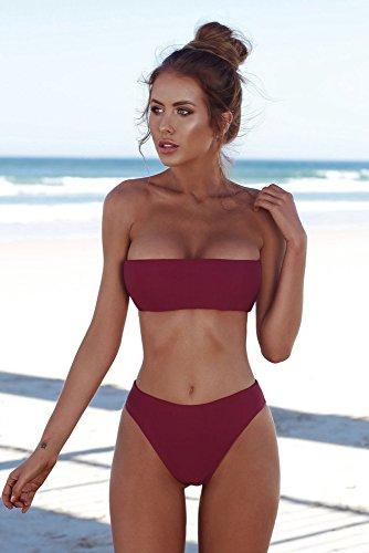 Vino Sexy Push Beachwear Costumi Rosso Weant up Da Imbottito Estate Unita Pezzi Mare Bagno Donna Bikini Costume Spiaggia Reggiseno Due Tinta HqnPCxn