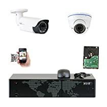 GW Security 8CH 5 Megapixel 1920P Video Home Security Camera System, 1pcs HD 1920p 5MP Outdoor Bullet & 1pcs Dome IP Camera ,80-120ft Night Vision, 330ft Transmit Range, 1TB HDD