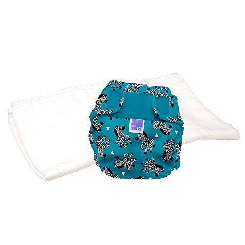 Bambino Mio, Miosoft Cloth Diaper Trial Pack, Zebra Crossing, Size 2 (21lbs+)