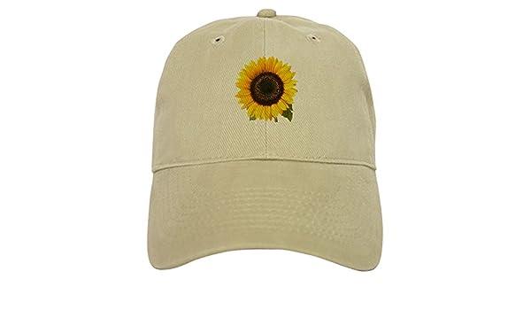223cec6f85a73 Amazon.com  CafePress - Sunflower - Baseball Cap with Adjustable Closure