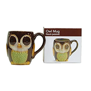 Porcelain Chocolate Owl 12 Oz Coffee Mug/cup for Our Owl Lovers