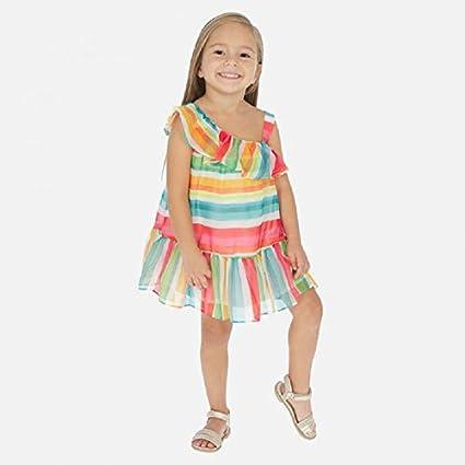 a Righe per Bambina Modello 3954 Mayoral Vestito in bamb/ù