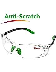 SAFEYEAR Schutzbrille Arbeitsbrille Sicherheitsbrille – SG003 (2018 Neue Mode) mit durchsichtugen Anti-Beschlag und Kratzbeständigen Gläsern Arbeitsbrillen mit Halterung