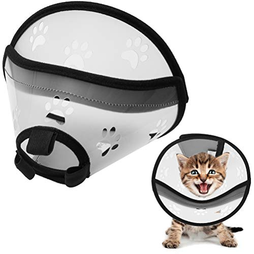 - SCENEREAL Cat Recovery Collar - E Collar for Cats Pet Cone Collar Soft Adjustable for Kittens & Puppy