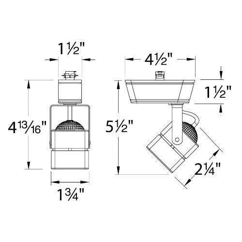 WAC Lighting JHT-802-BN J Series Low Voltage Track Head, 50W