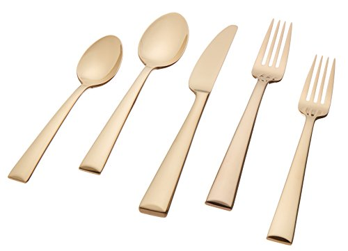 Lenox Colebrook Flatware 5-Piece Place Setting, Champagne
