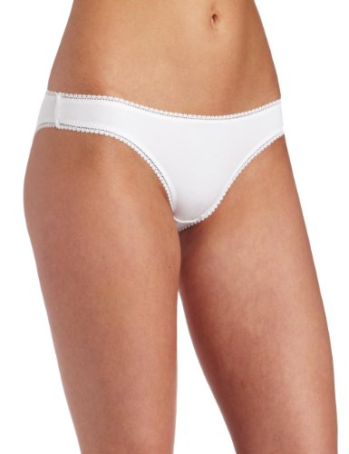 - On Gossamer Women's Cabana Cotton Low -Rise Bikini Panty, White, Small