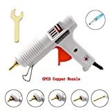 Chanseon 150 watts Industrial Hot Melt Glue Gun US Plug with 10 Pcs Glue Sticks Adjustable Temperature Copper Nozzles for DIY Crafts and Quick Repairs