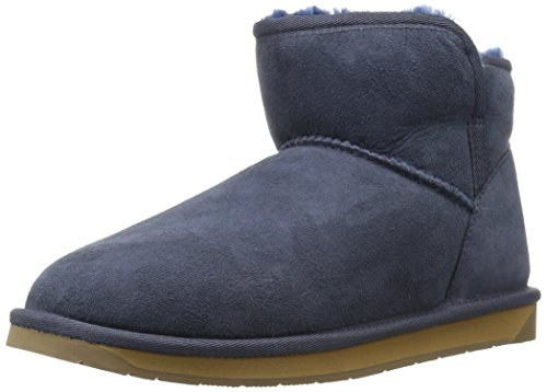 206 Collective Women's Bellevue Shearling Ankle Boot, Navy, 10 B US