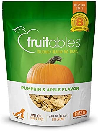 Fruitables Dog Treats Pumpkin Apple Flavor, 7 oz