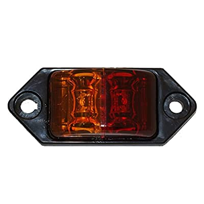 "Kaper II Marker Light 2-diode, amber/red, (2) 450mm wires; rated: n/a connection:; 2 bare wire available in ""left"" and right"" fender mount lens color: amber and red tested voltage: 12.8 Volts  Material: PMMA lens abs housing."