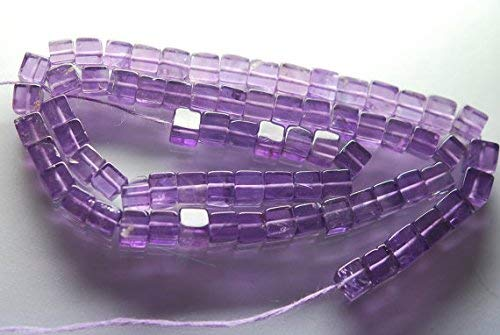 14 Inch Strands,Natural Purple Amethyst 3D Cube, 5-6MM by Gemswholesale