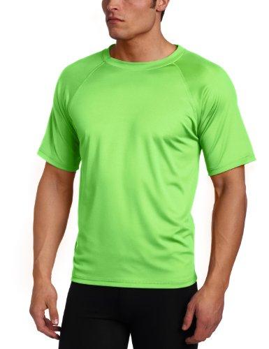 Kanu Surf Men's Short Sleeve UPF 50+ Swim Shirt (Regular & Extended Sizes), Neon Green, XX-Large