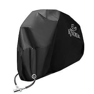Cubierta de motocicleta Premium hecha resistente a rasgaduras y combustible 190T - 2 vías bloqueables y contra el viento - protección perfecta contra la lluvia, el sol y el polvo - (XL)