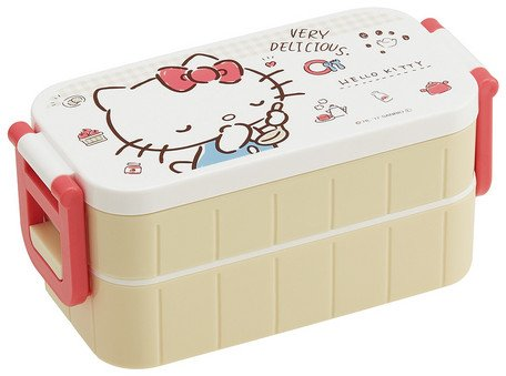 (Skater Sanrio Hello Kitty Two-Stages Tight Lunch Box 600ml YZW3)