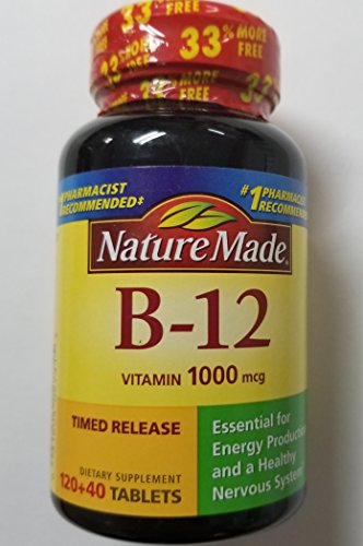 - Nature Made Vitamin B-12 1000 mcg Timed Release Tablets 160 ea