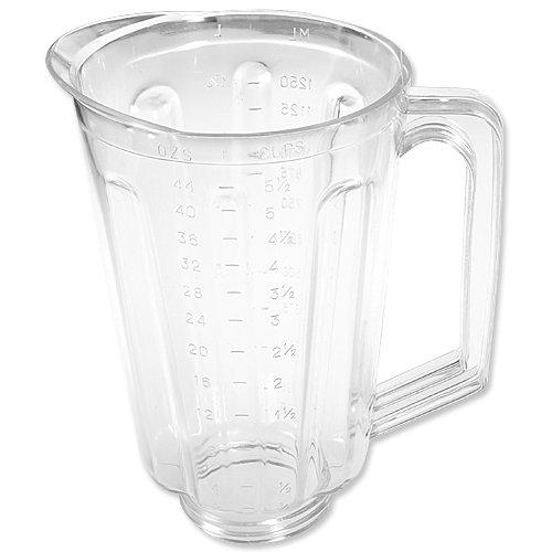 Blender Beach Hamilton Jar Replacement (Plastic 44 oz jar fits most Hamilton Beach domestic models.)