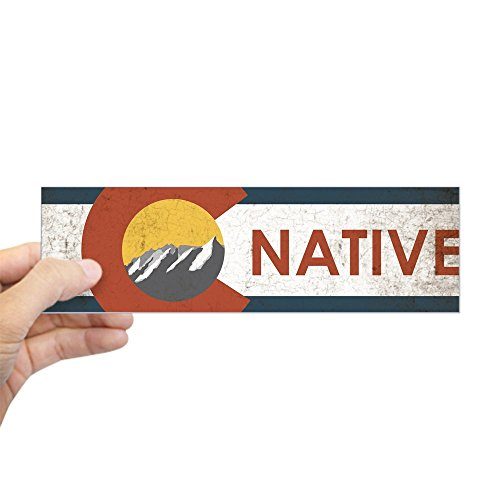 CafePress - Colorado Native Red Sticker (Bumper) - - Colorado Native