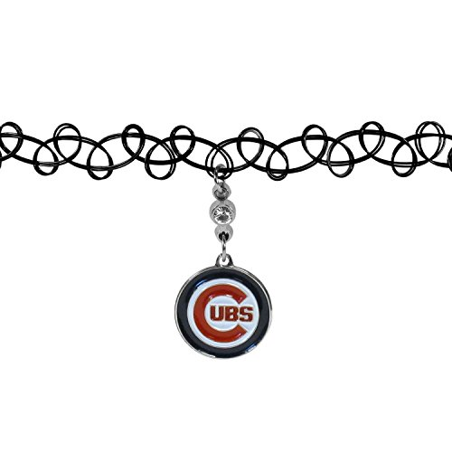 MLB Chicago Cubs Knotted Choker, Black, Stretch