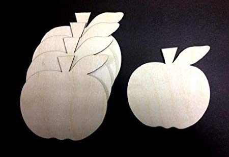 Embellishment Craft X10 Wooden Apple Shapes