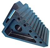 "YM W4194 Solid Rubber Wheel Chock with Handle, 8-3/4"" Length, 4"" Width, 6"" Height - Pack of 2"