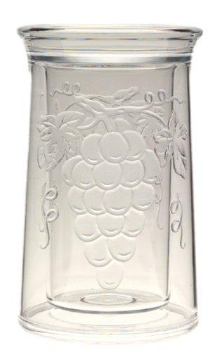 Jubilee Acrylic Embossed Grape Iceless Wine Cooler by (Embossed Grape Acrylic)