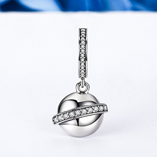 XingYue Jewelry 925 Sterling Silver High heeled Shoes Dangle Charms Clear CZ Charms Fit Snake Chain Bracelet and Necklace (High heeled Shoes charm) (CZ dangle charm)