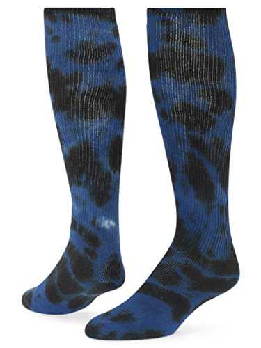 Red Lion Eclipse Tie Dye Cotton Athletic Tube Socks ( Black / Royal Blue Blue - Small (Tie Dye Youth Socks)