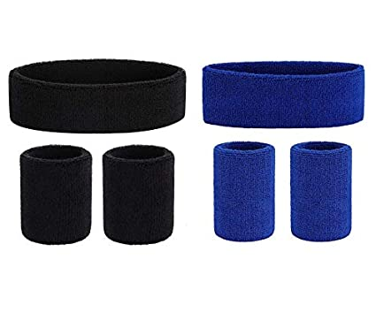 Buy R-LON Men, Women Cotton Sports wear Sweat Wrist Band & Head Band (Pack  of 6) Online at Low Prices in India - Amazon.in