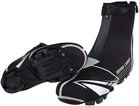 シューズカバー 自転車に乗っドレスシューズ暖かい風と防水オーバーシューズは、夜の乗馬の安全性を向上させることができます 防風性と防水性 (Color : Black, Size : One size)