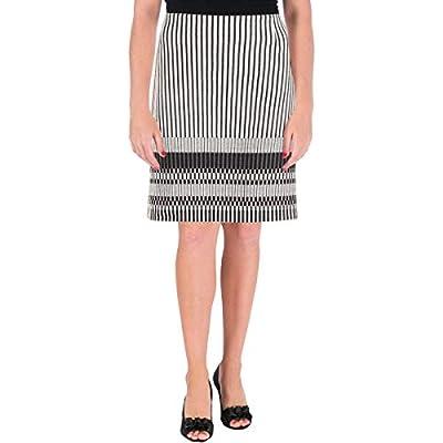 Hugo Boss Womens Striped A-Line A-Line Skirt