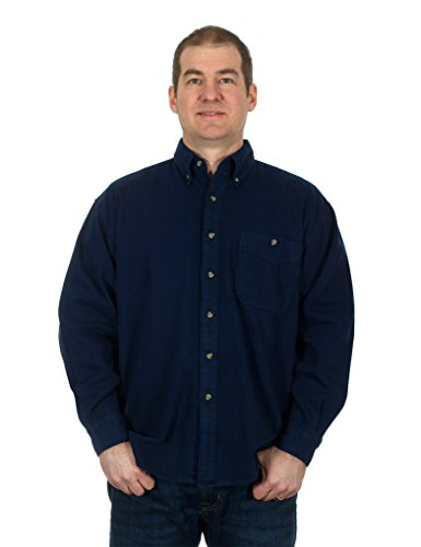 mens-denim-corduroy-long-sleeve-button-down-shirt-medium-dark-blue