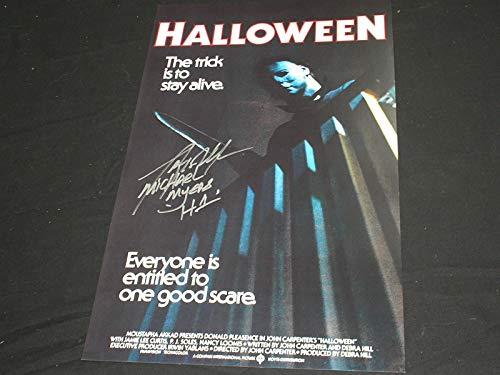 TONY MORAN Signed Halloween 11x17 Poster Autograph Michael Myers B