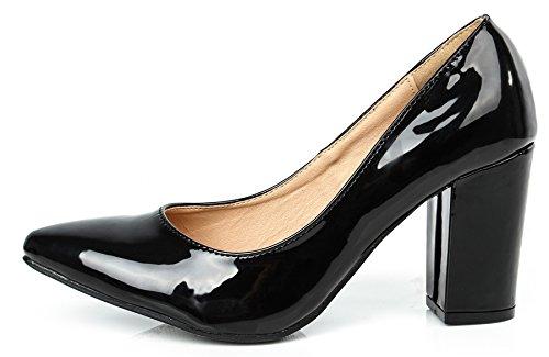 Scarpe a Scarpe Punta Donna Tacco Donna On Tacchi Nero con Eleganti Slip AgeeMi Shoes Iw7XI0