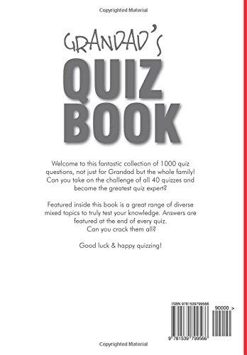 Grandad's Quiz Book: 1000 questions in 40 themed categories: Amazon