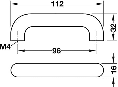 Gedotec Manija de Muebles Tirador de Barra Empu/ñadura de Madera de Madera Haya o Pino Distancia Entre Agujeros 96mm Calidad de Marcas para Su Sala de Estar Haya Bohrabstand 96 mm