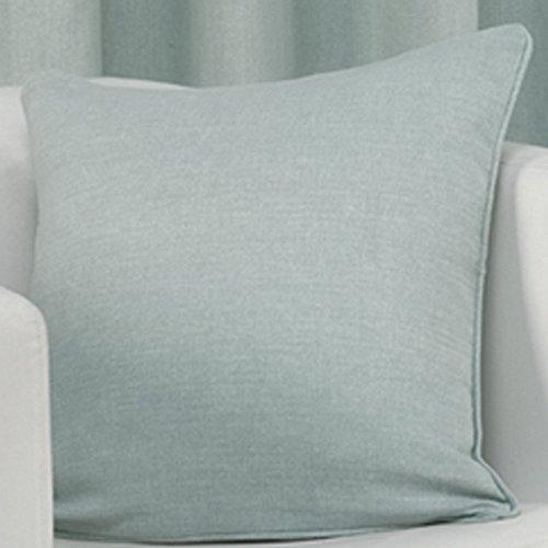Plain Square Decorative Sofa Throw Cushion Cover Case 100% Cotton 17 x 17 Duck Egg Blue