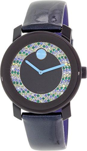 3600320 Blue Leather Swiss Quartz Watch (Movado Sapphire Watch)