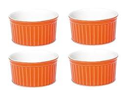 Oxford Porcelain Ramekin- Set of 4 (Orange)